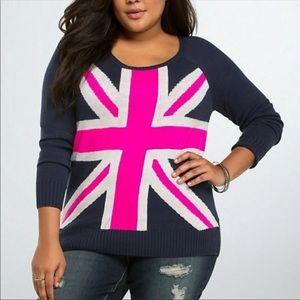 Torrid British Flag Sweater